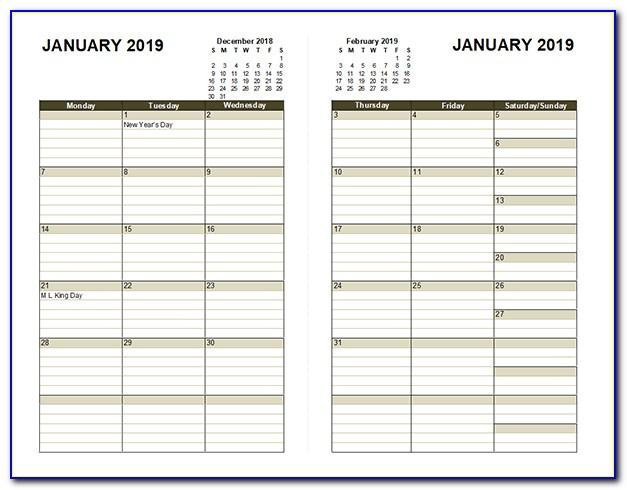 Schedule Builder Template Excel