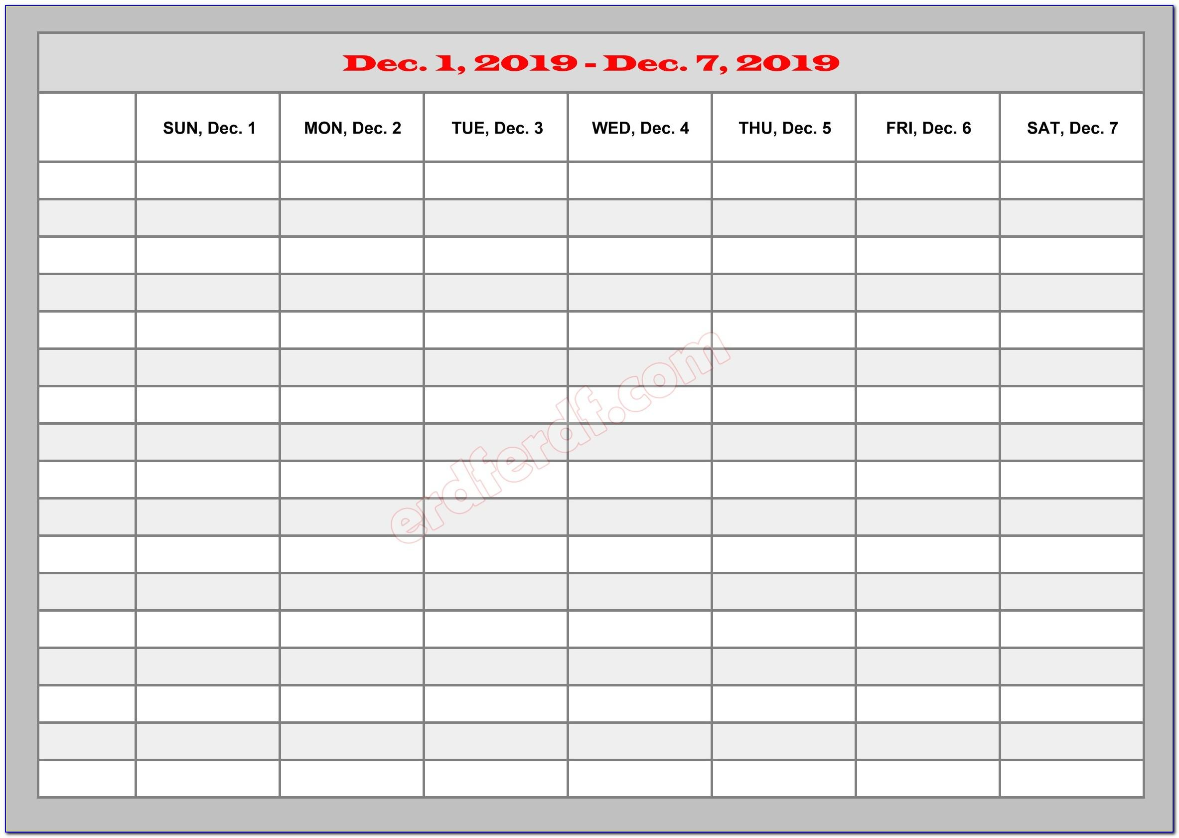 Schedule Maker Templates Free Excel