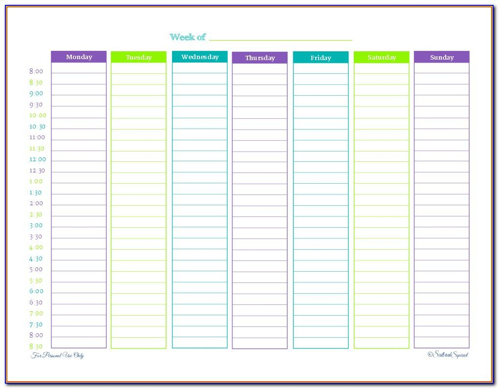 Schedule Planning Template Excel