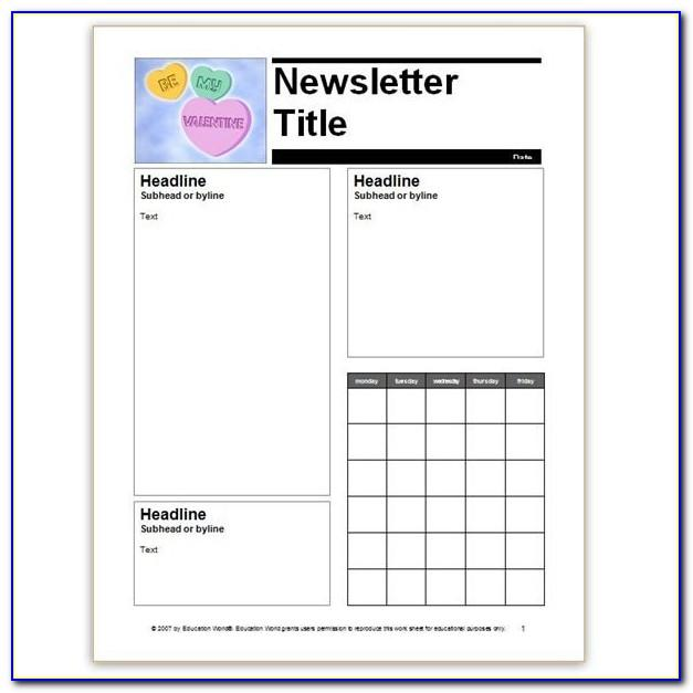 School Newsletter Templates Microsoft Word