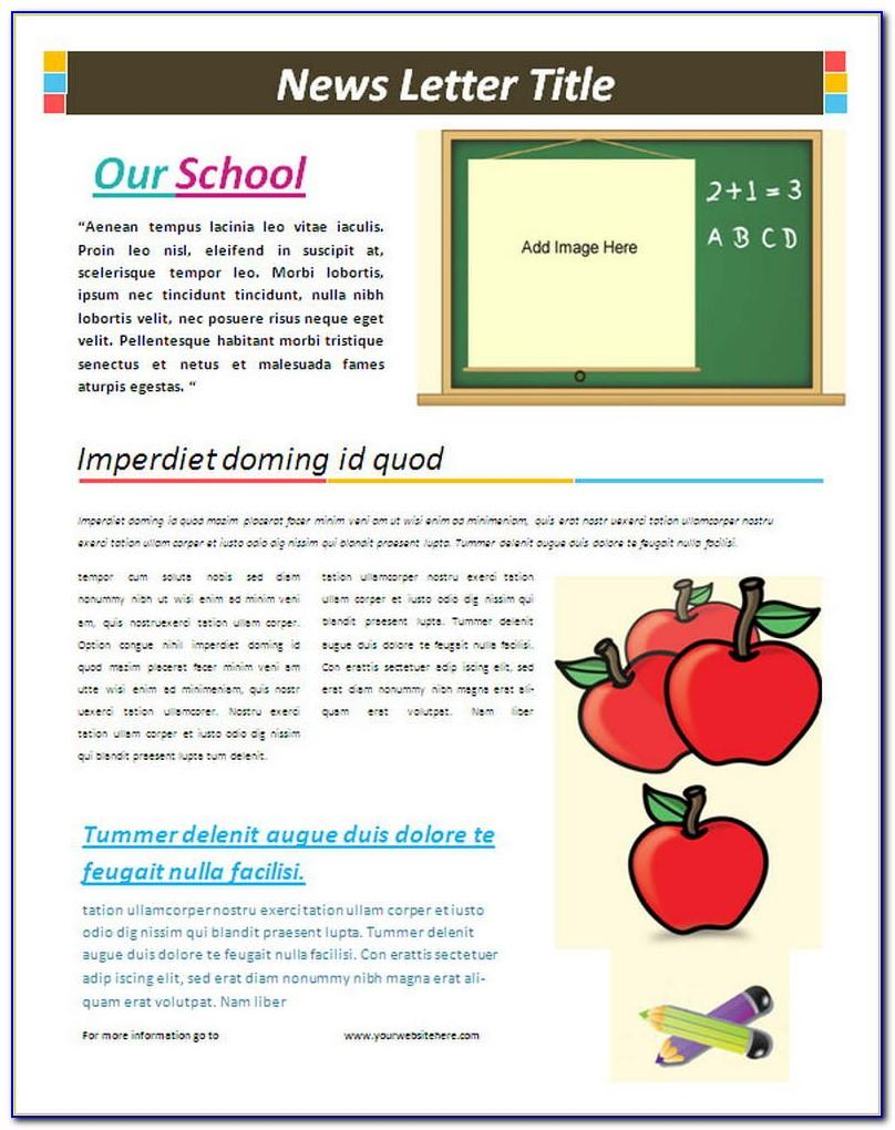 School Newsletter Templates Word Free