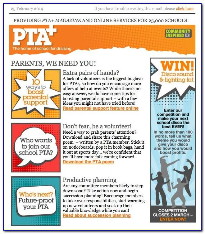 School Pta Newsletter Templates
