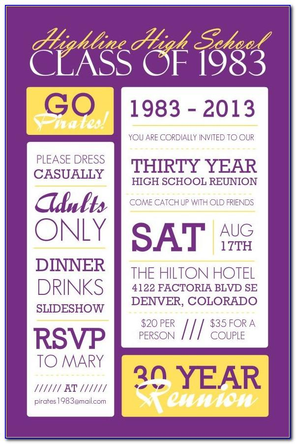 School Reunion Flyer Template