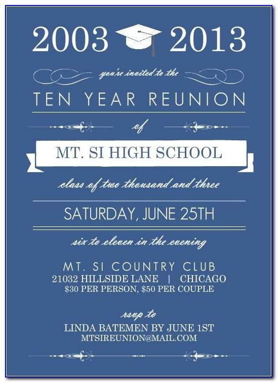 School Reunion Invitation Card Maker