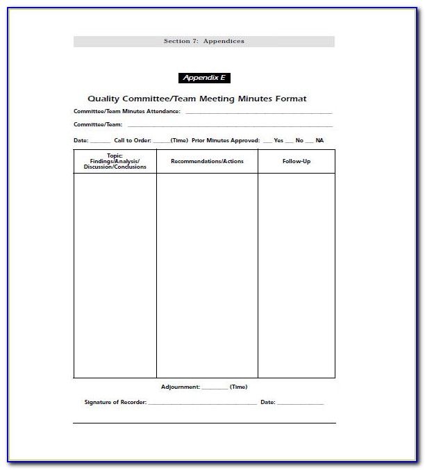 School Staff Meeting Minutes Sample Pdf