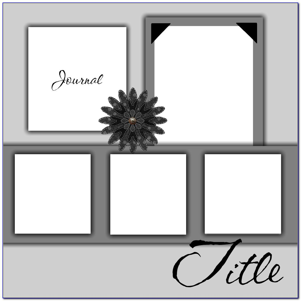 Scrapbook Template Free Printable