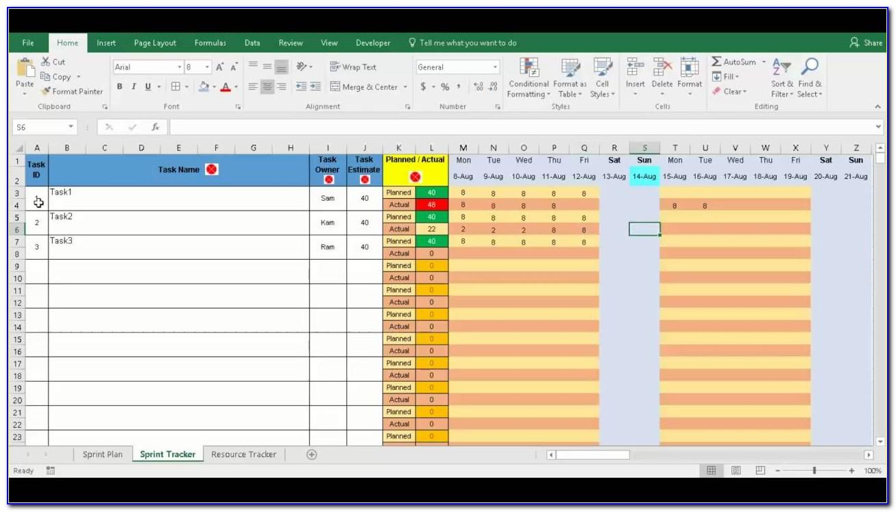 Scrum Daily Standup Meeting Template Excel