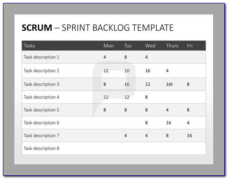 Scrum Product Backlog Example