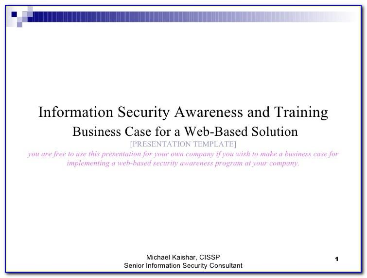 Security Awareness Training Plan Template