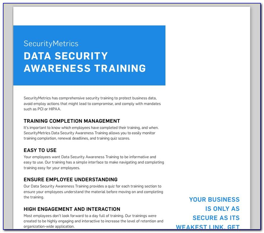 Security Awareness Training Program Example