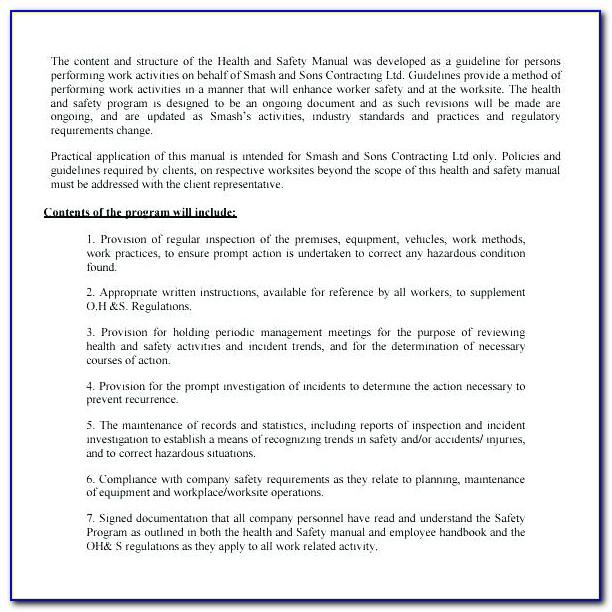 Security Guard Agreement Form
