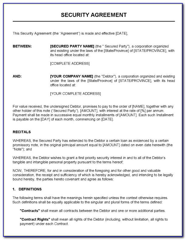 Security Guard Services Contract Template