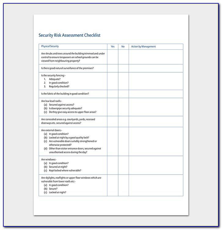 Security Threat And Vulnerability Assessment Template
