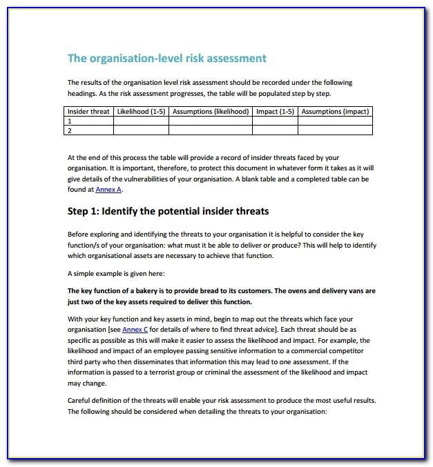Security Threat Assessment Sample