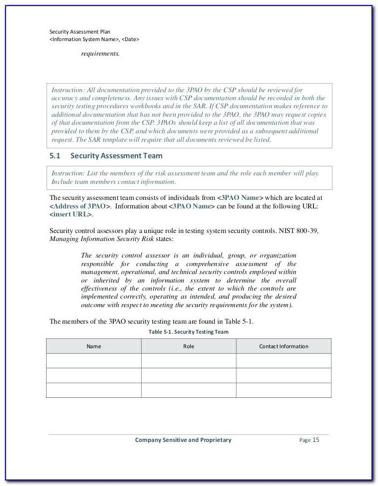 Security Vulnerability Assessment Form