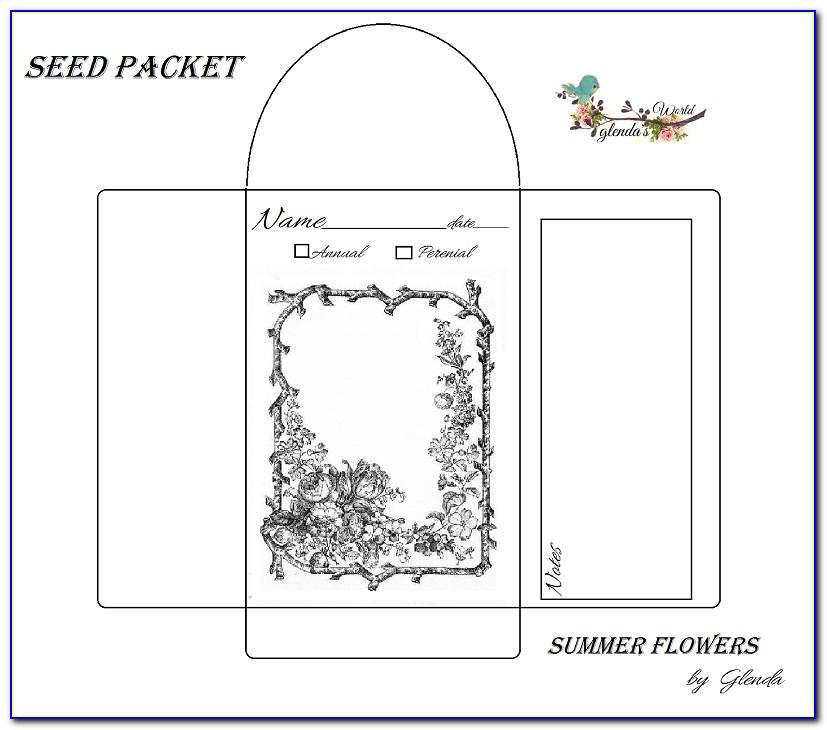 Seed Envelope Template Free