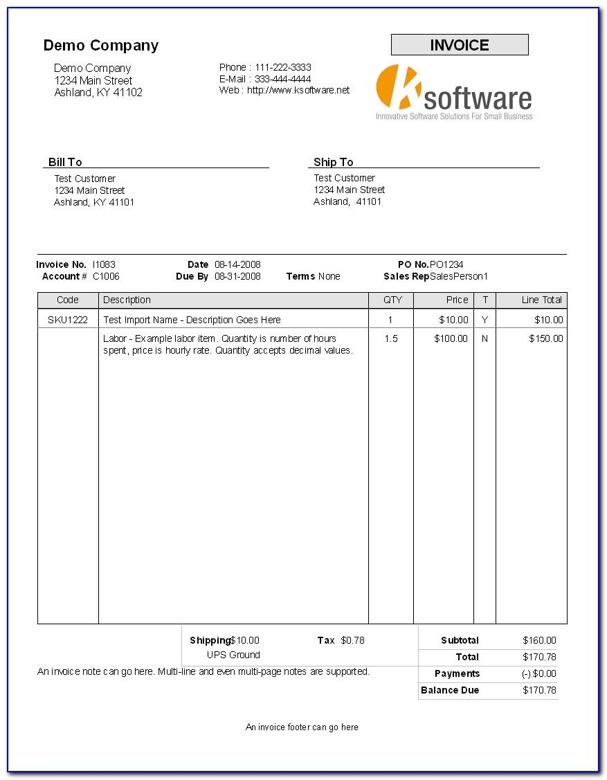 Self Billing Invoice Template Excel