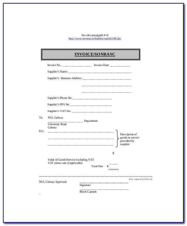 Self Employed Agreement Template