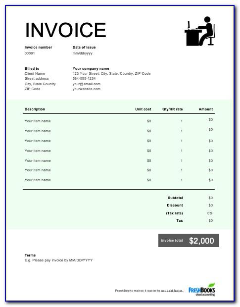Self Employed Invoice Template Uk Download