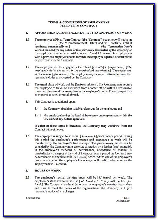 Self Employed Nanny Contract Template