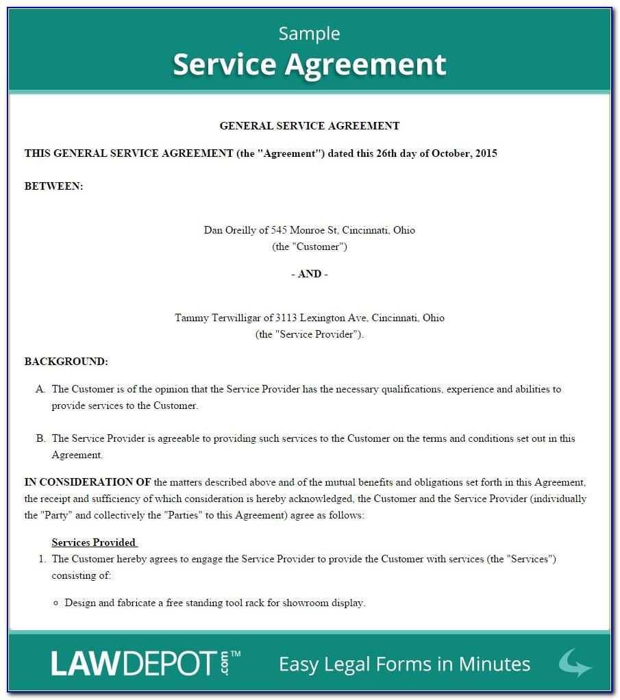 Self Employment Contract Template Canada