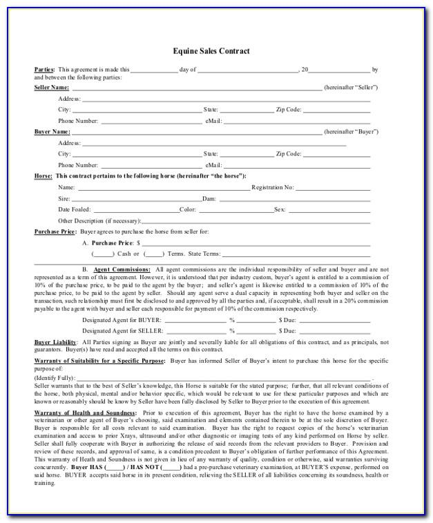 Selling A Car Privately Contract Template