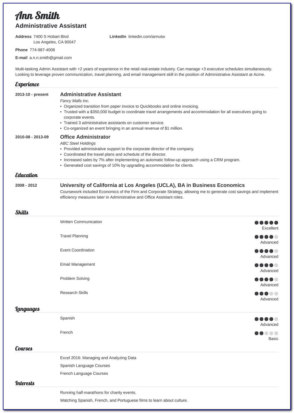 Senior Executive Resume Examples 2019