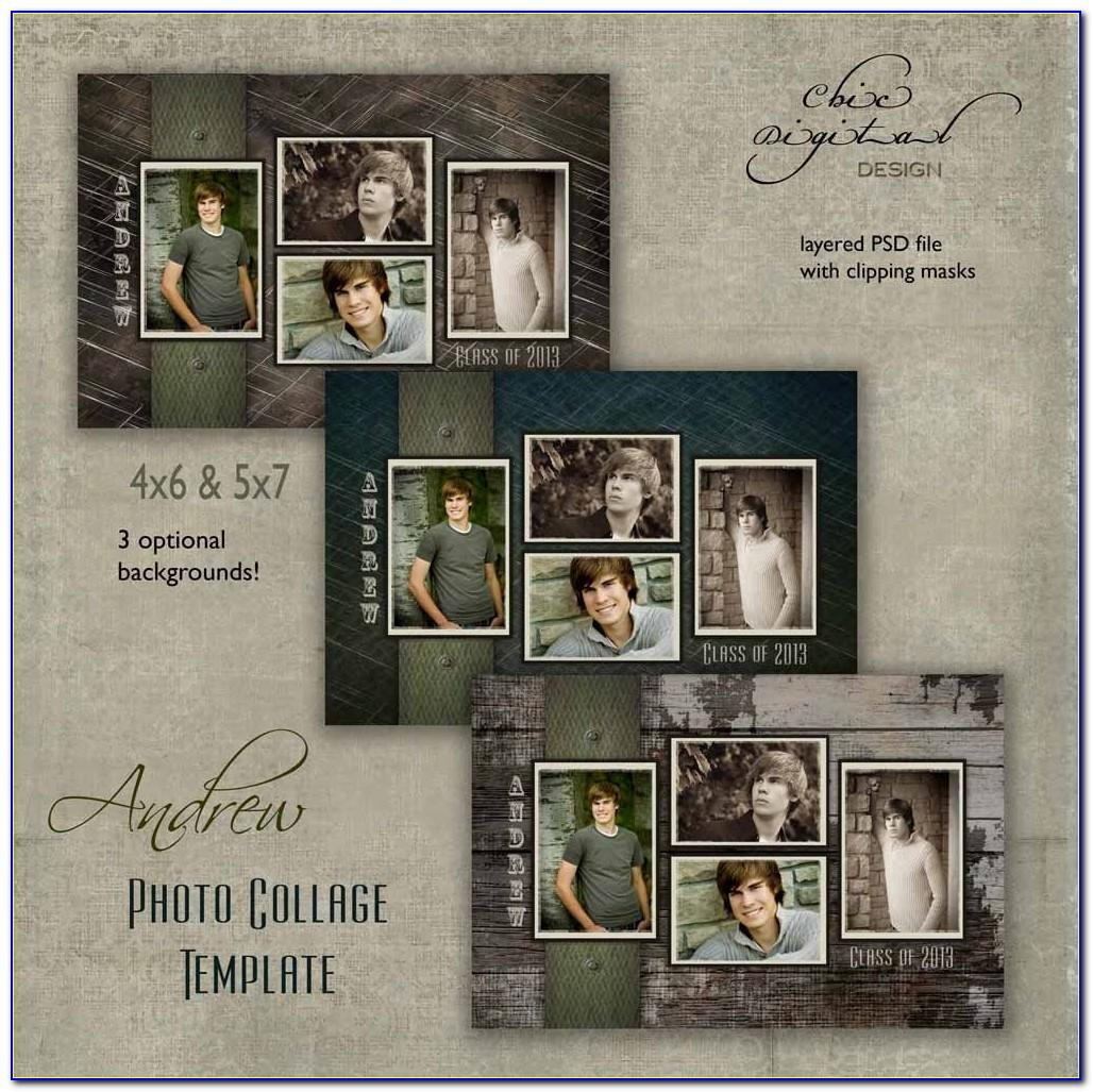 Senior Picture Collage Template