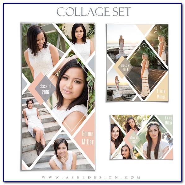 Senior Pictures Collage Templates
