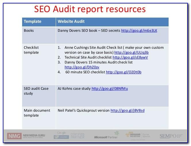 Seo Audit Report Sample Ppt