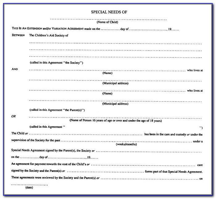 Separation Agreement Form Ontario