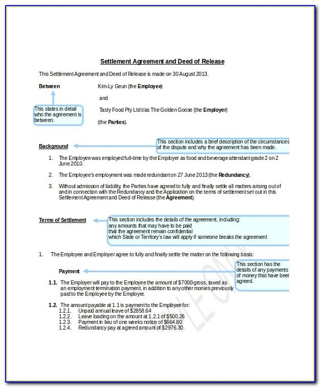 Separation Agreement Template Bc Canada