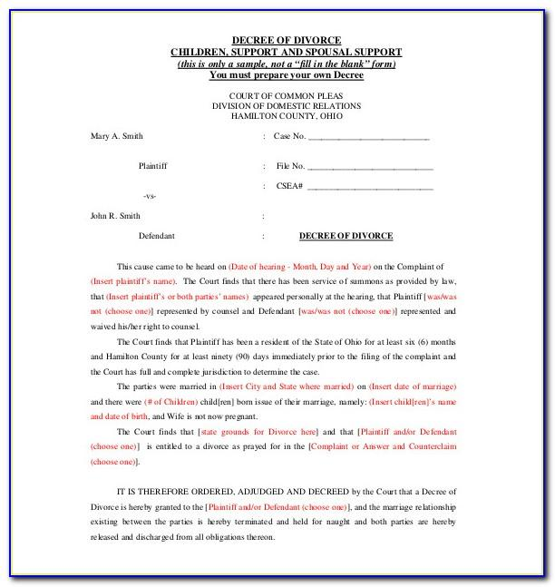 Separation Agreement Template Free Canada