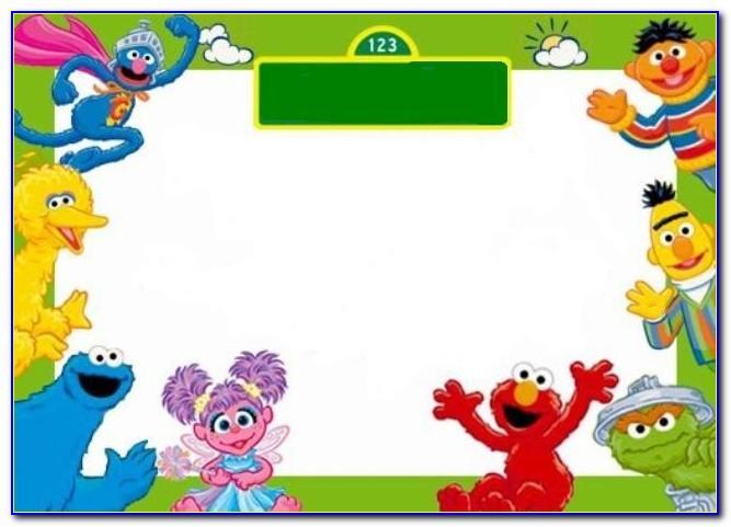 Sesame Street Birthday Banner Template
