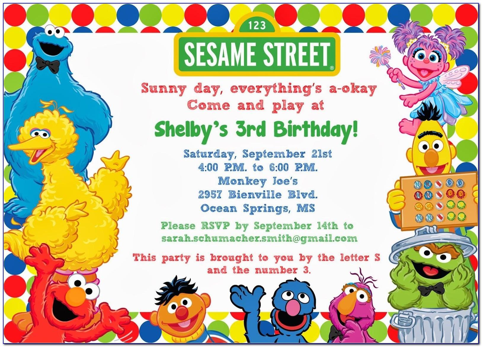 Sesame Street Invitation Template Download