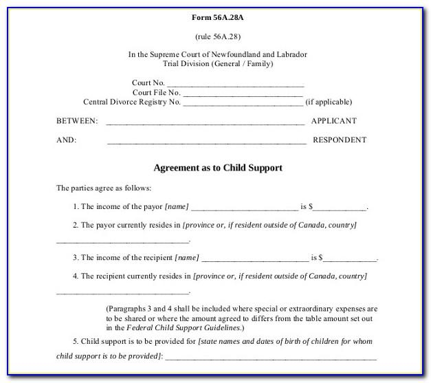 Shared Custody Agreement Template Australia