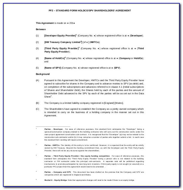 Shareholder Agreement Template Free Download Singapore