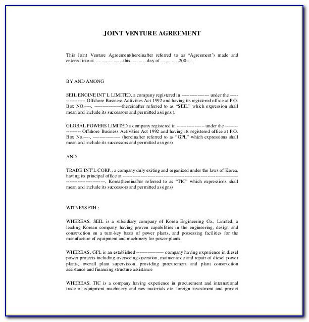 Shareholder Agreement Template Free Download