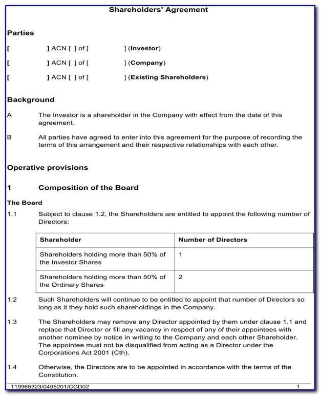Shareholder Loan Agreement Template Singapore
