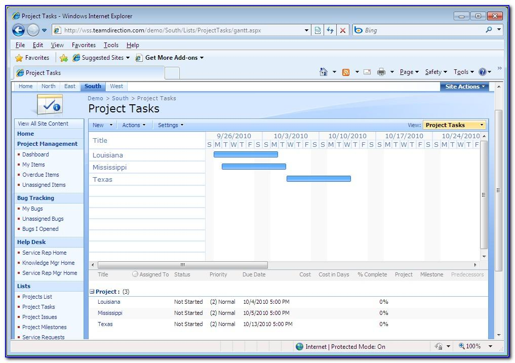 Sharepoint 2007 Project Management Template