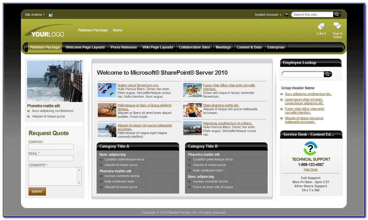 Sharepoint 2010 Site Template Gallery