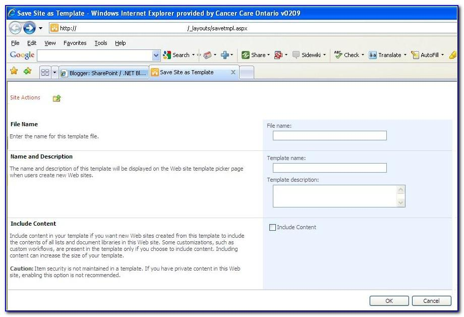 Sharepoint 2010 Template Gallery
