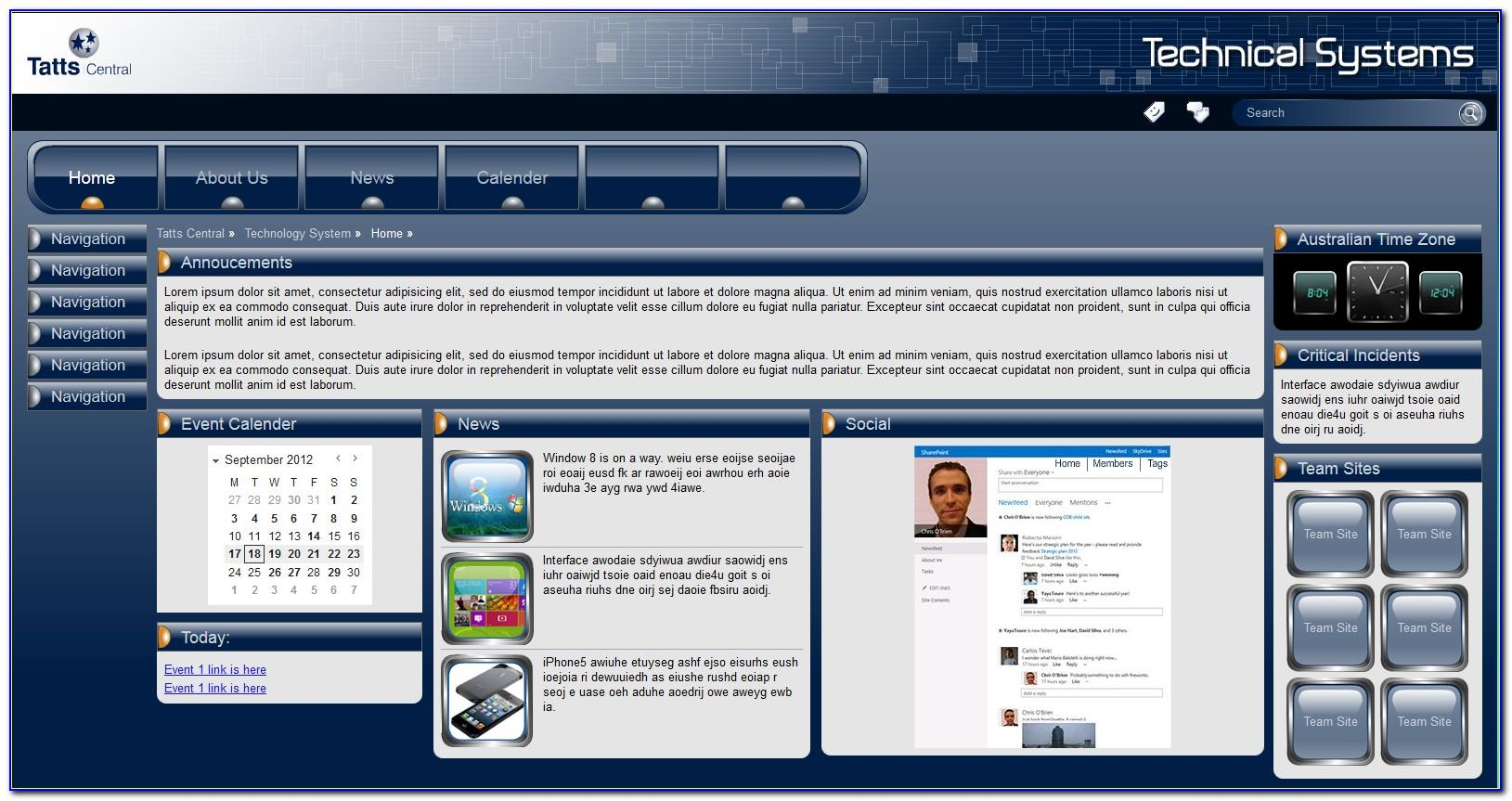 Sharepoint 2013 Intranet Master Page Templates