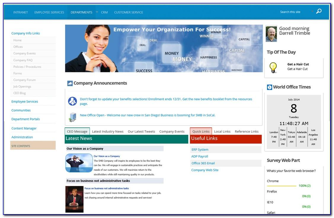 Sharepoint 2013 Intranet Template Free Download