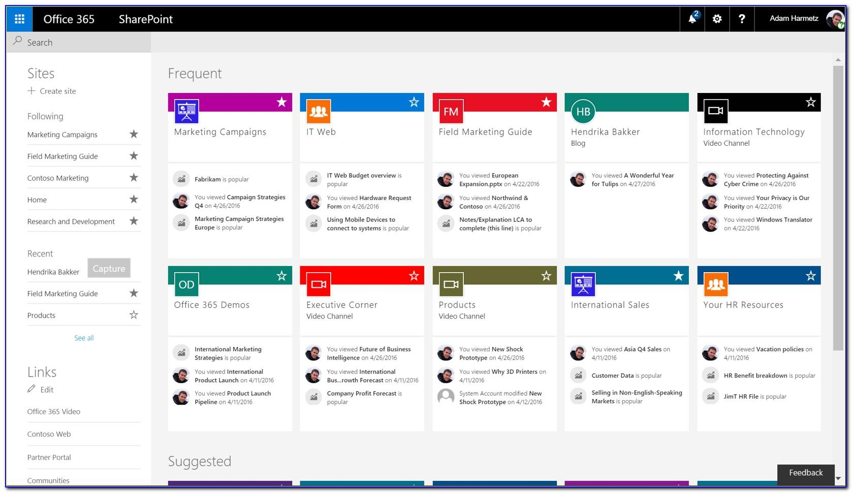 Sharepoint 2013 Template Project Site