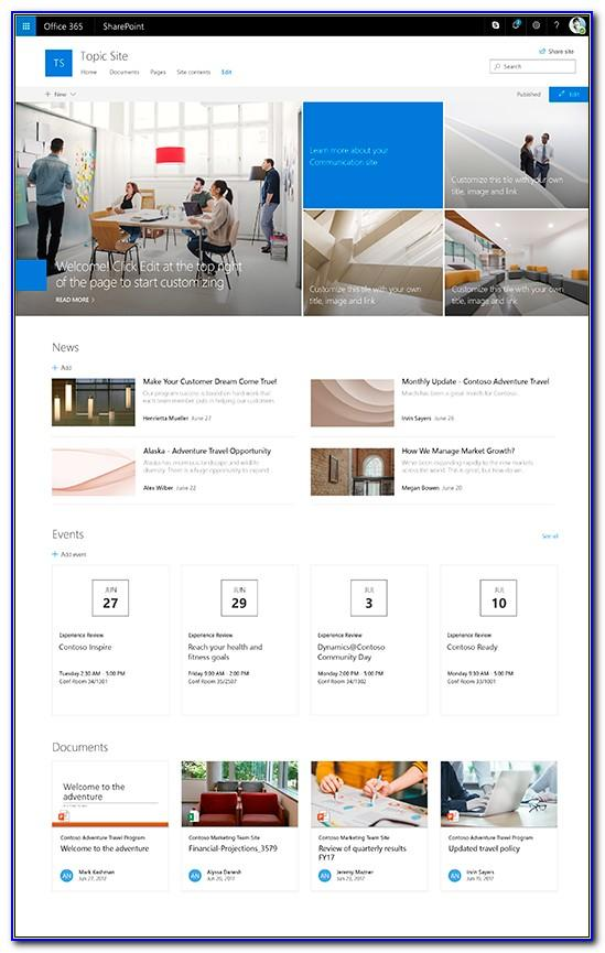 Sharepoint 365 Templates Free