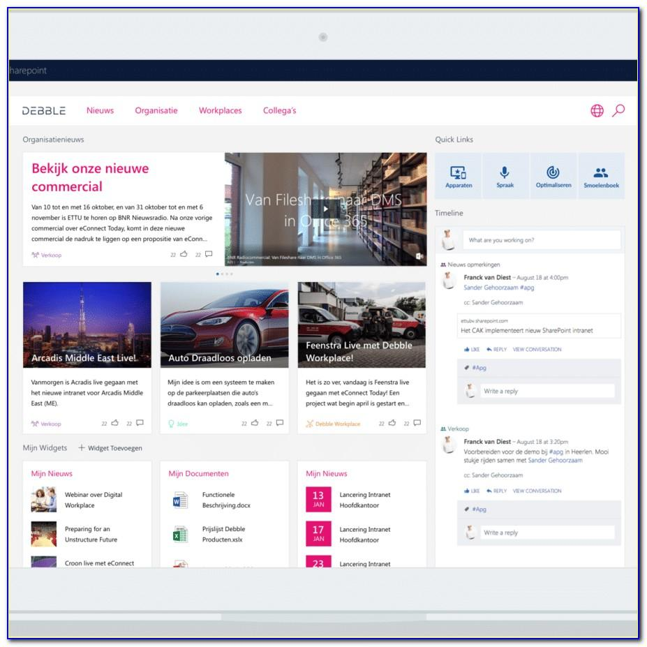 Sharepoint Intranet Portal Template