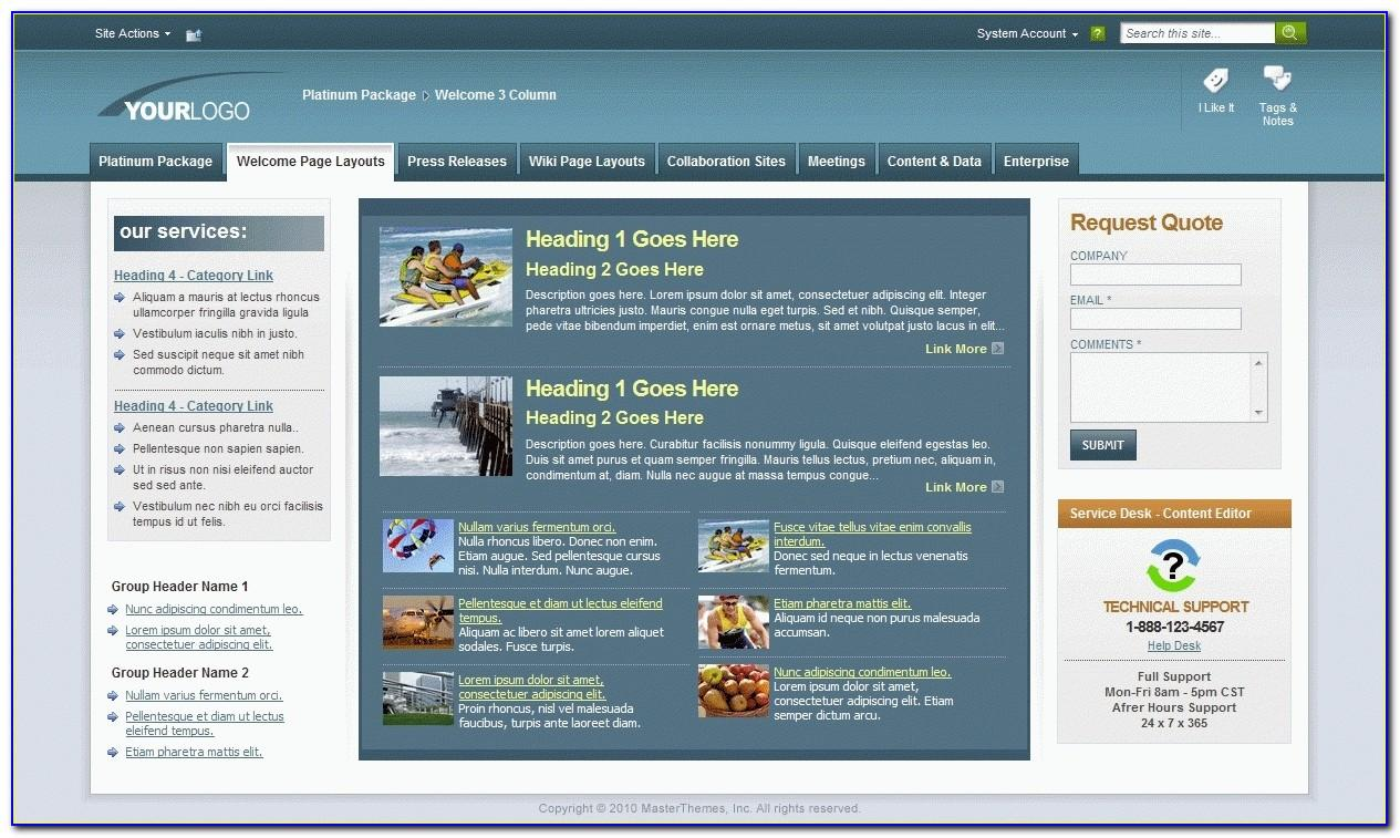 Sharepoint Master Page Templates 2013 Free