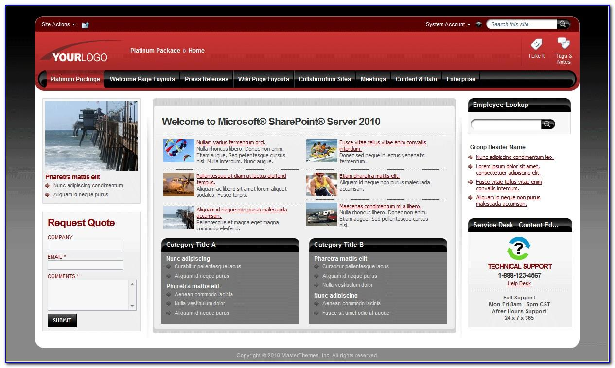 Sharepoint Master Page Templates 2013