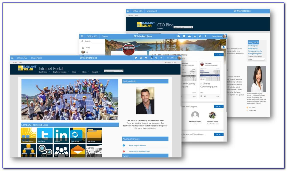 Sharepoint Online Intranet Template Free